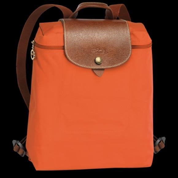LONGCHAMP Le Pliage Sac A Dos Orange Backpack